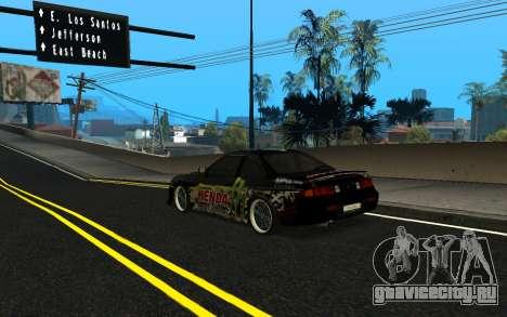 Nissan Silvia S14 Monster Energy KENDA Tire для GTA San Andreas вид слева