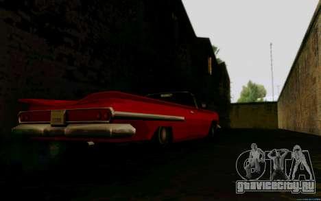 Voodoo Кабриолет (версия без фар) для GTA San Andreas вид сзади слева