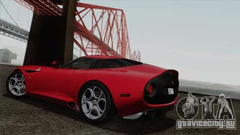 Alfa Romeo Zagato TZ3 2012 для GTA San Andreas вид справа