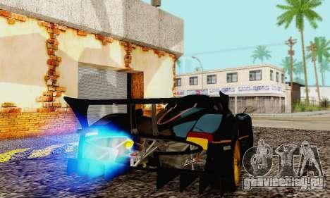 Pagani Zonda Type R Black для GTA San Andreas вид справа