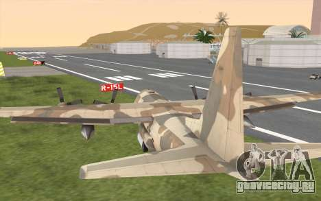 C-130H Hercules для GTA San Andreas вид сбоку