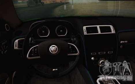 Jaguar XKR-S GT 2013 для GTA San Andreas вид сзади