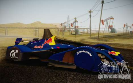 GT Red Bull X10 Sebastian Vettel для GTA San Andreas вид справа
