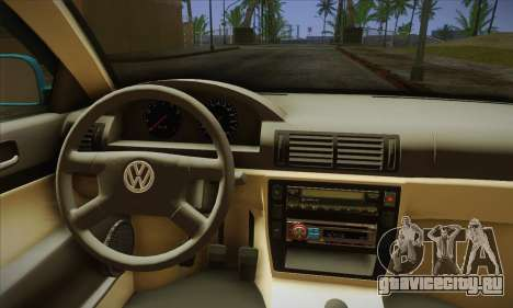 Volkswagen Passat для GTA San Andreas вид сзади