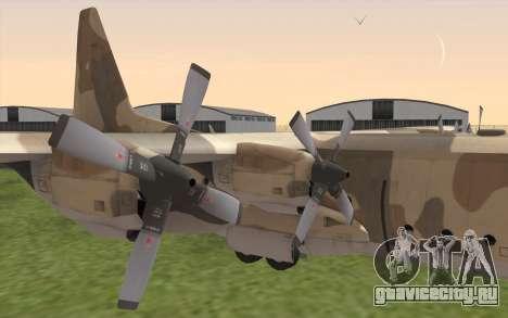 C-130H Hercules для GTA San Andreas вид справа