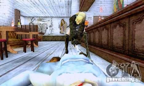 Девушка блондинка в черной одежде для GTA San Andreas шестой скриншот