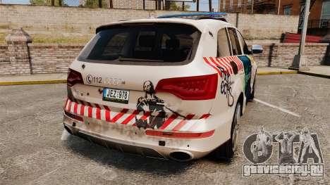 Audi Q7 FCK PLC [ELS] для GTA 4 вид сзади слева