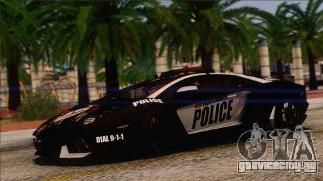 Lamborghini Aventador LP 700-4 Police для GTA San Andreas вид сбоку