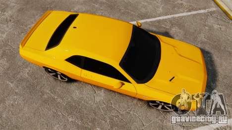 Dodge Challenger SRT8 2012 для GTA 4 вид справа