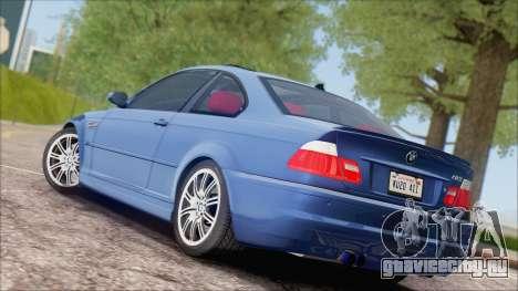 BMW M3 E46 2002 для GTA San Andreas вид справа