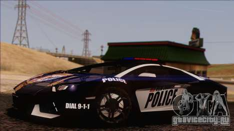 Lamborghini Aventador LP 700-4 Police для GTA San Andreas вид снизу