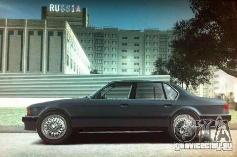 BMW 735iL e32 для GTA 4 вид слева