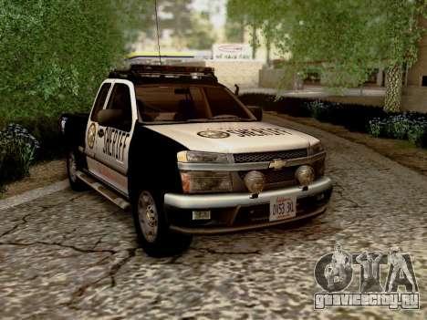 Chevrolet Colorado Sheriff для GTA San Andreas вид сзади