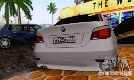 BMW 530xd для GTA San Andreas вид изнутри