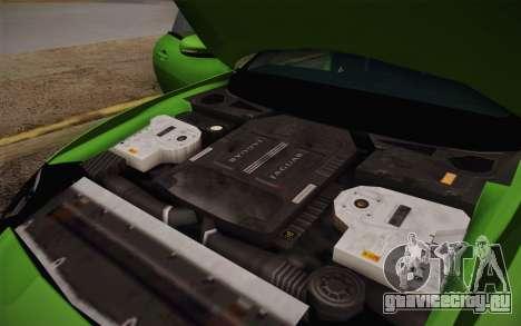 Jaguar XKR-S GT 2013 для GTA San Andreas вид сверху