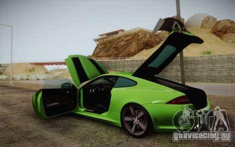 Jaguar XKR-S GT 2013 для GTA San Andreas вид сбоку