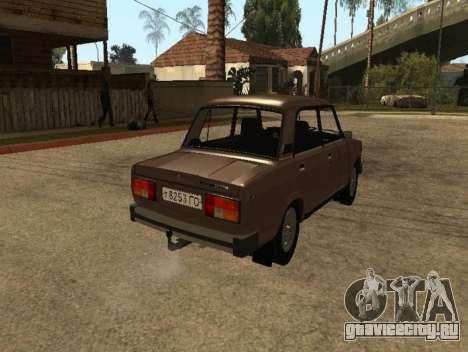 ВАЗ 2105 ранняя версия для GTA San Andreas вид сзади слева