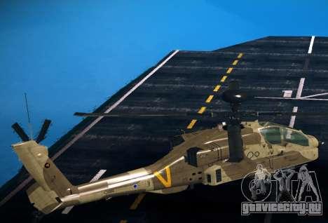 AH-64 Longbow Apache для GTA San Andreas вид слева