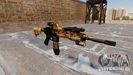 Автоматический карабин Colt M4A1 Fall Camos для GTA 4