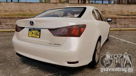 Lexus GS 300h для GTA 4 вид сзади слева
