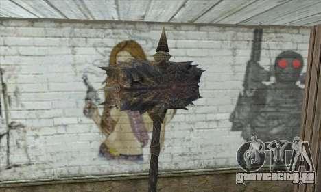 Топор из Skyrim для GTA San Andreas второй скриншот