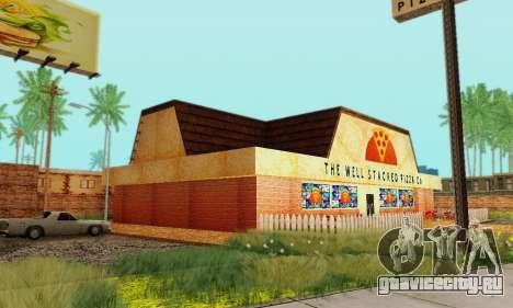 Новая текстура пиццерии и отеля в Иделвуде для GTA San Andreas восьмой скриншот
