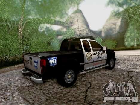 Chevrolet Colorado Sheriff для GTA San Andreas вид сверху