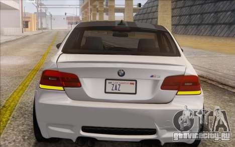 BMW M3 E92 2008 для GTA San Andreas вид сзади