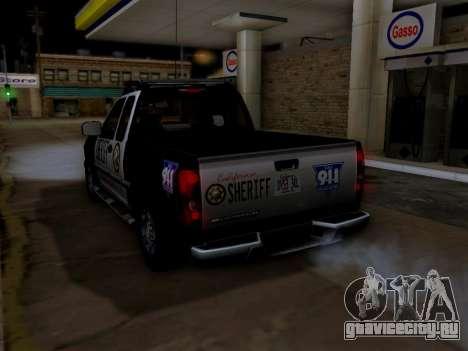 Chevrolet Colorado Sheriff для GTA San Andreas колёса