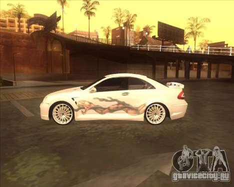 Mercedes CLK 500 из NFS Most Wanted для GTA San Andreas вид сзади слева