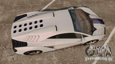 GTA V Pegassi Zentorno для GTA 4 вид справа