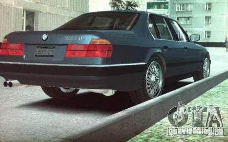 BMW 735iL e32 для GTA 4 вид сзади слева