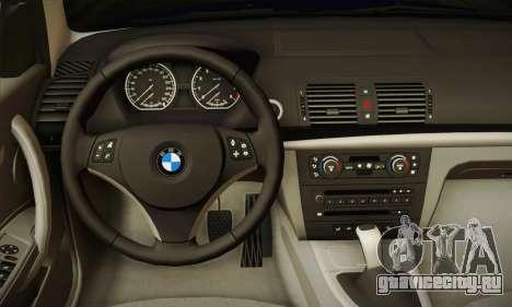 BMW 120i SE Carabinieri для GTA San Andreas вид сзади