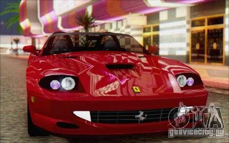 Ferrari 550 Barchetta для GTA San Andreas вид сзади слева