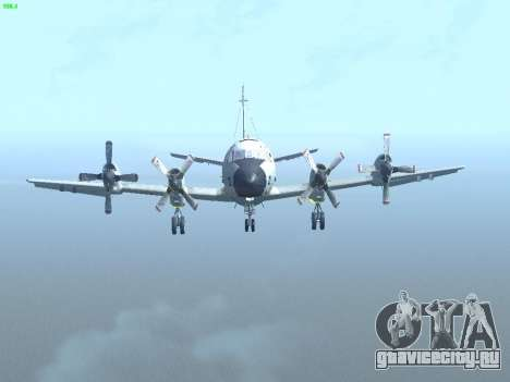 Lockheed P-3 Orion FAJ для GTA San Andreas вид изнутри