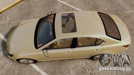 Lexus GS 300h для GTA 4 вид справа
