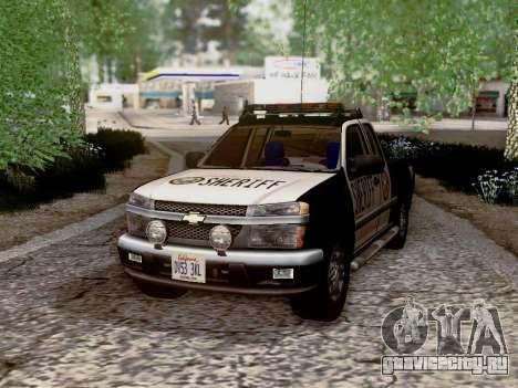Chevrolet Colorado Sheriff для GTA San Andreas вид снизу