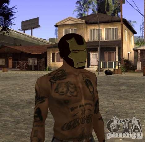 Маска Железного Человека для CJ для GTA San Andreas