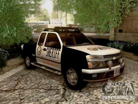 Chevrolet Colorado Sheriff для GTA San Andreas