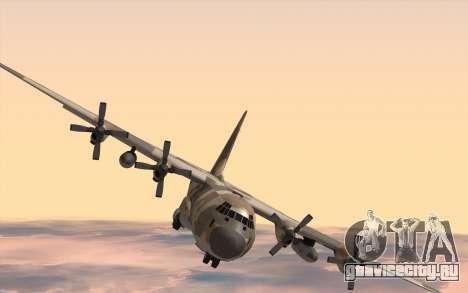C-130H Hercules для GTA San Andreas вид сзади слева