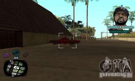 C-HUD Ice Cube для GTA San Andreas третий скриншот
