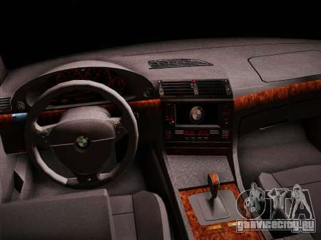 BMW 730d E38 1999 для GTA San Andreas вид сзади