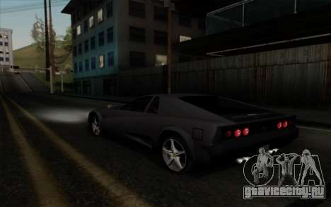 Cheetah v2 для GTA San Andreas вид справа