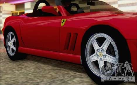 Ferrari 550 Barchetta для GTA San Andreas вид справа