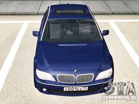BMW 760Li для GTA San Andreas вид сзади слева