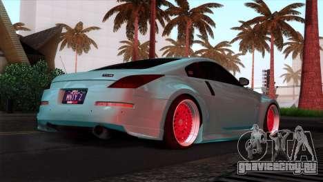 Nissan 350Z Minty Fresh для GTA San Andreas салон