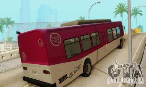 Transit Bus из GTA 5 для GTA San Andreas вид справа