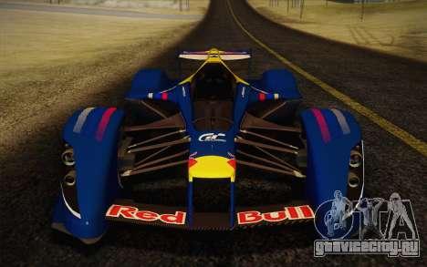 GT Red Bull X10 Sebastian Vettel для GTA San Andreas вид сзади слева