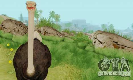 Ostrich From Goat Simulator для GTA San Andreas четвёртый скриншот