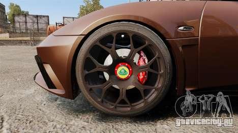 Lotus Evora GTE Mansory для GTA 4 вид сзади